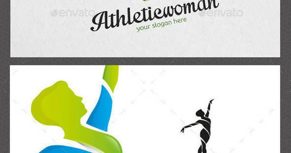 Box athletic woman logo