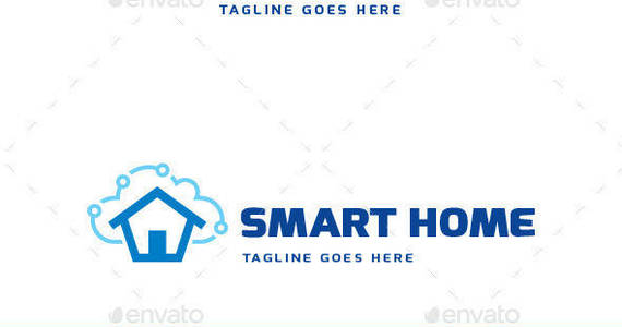 Box smart home logo template