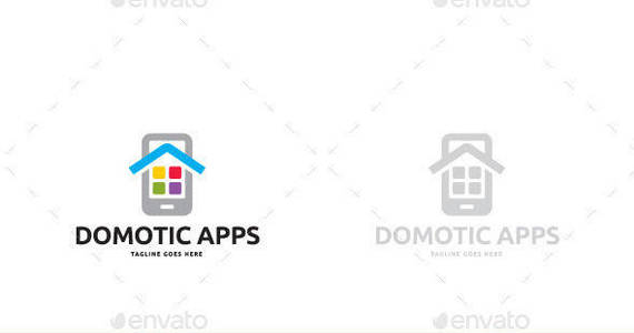 Box domotic apps logo template
