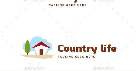 Box country life logo template