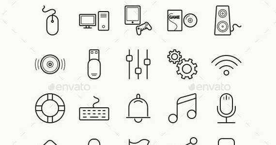 Box 70 vector game icons preview
