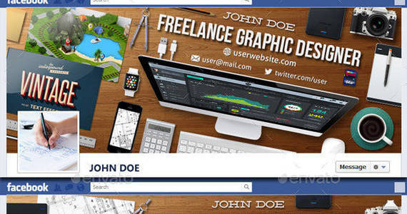 Box graphic designer workspace facebook timeline covers 590
