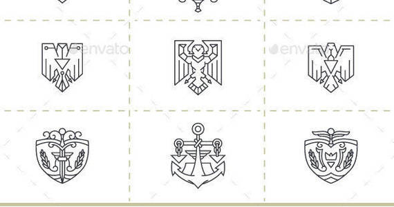 Box justice symbols vector set gr
