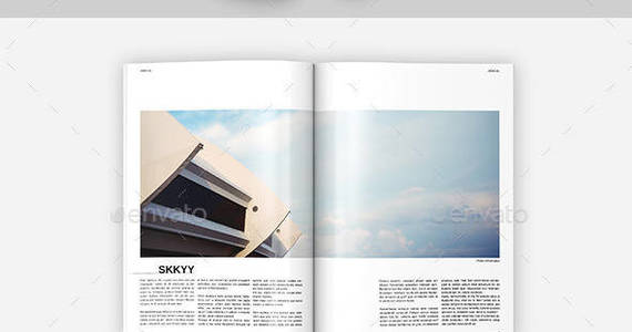 Box a4 architecture magazine template issue 01 preview