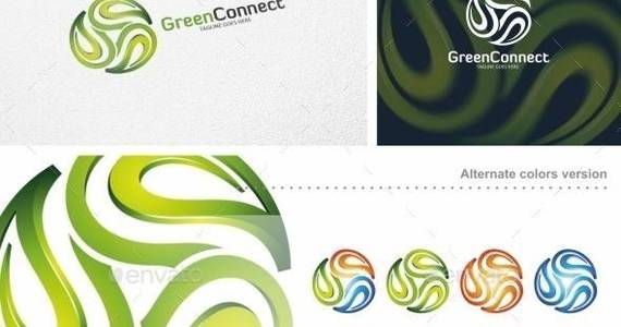 Box green 20connect 20  20logo 20template 20  20preview 20