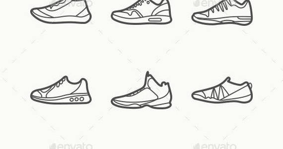 Box outline sneakers preview