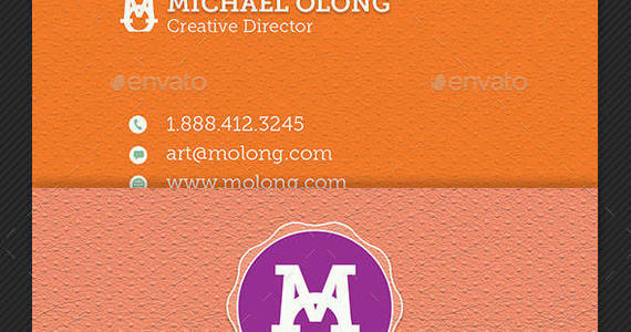 Box creative group business card template preview