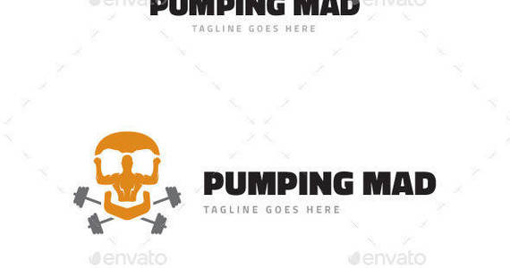 Box pumping mad logo template