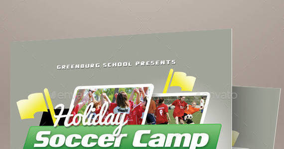 Box graphic river soccer camp flyer templates kinzishots