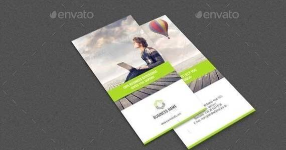 Box business trifold brochure
