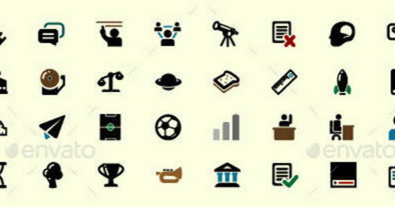Box 40 educational vector icons 590