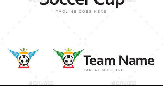 Box soccer cup logo template