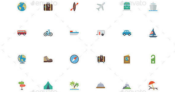 Box travel 20flat 20icons 20pr
