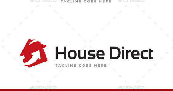 Box house direct logo template