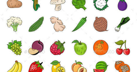 Box fruits and vegetables 590