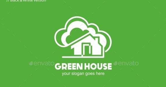 Box green 20house 20logo 20template 20590