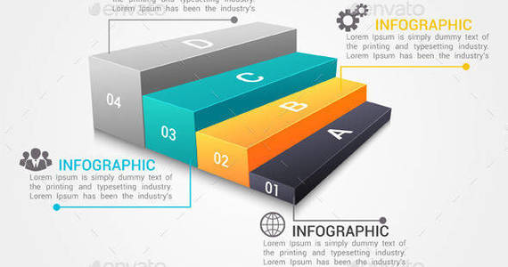 Box modern infographic options banner 590x590