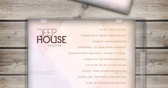 Box deephouse session cd cover template preview