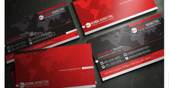 Box 88 creative black and red corporate business card preview
