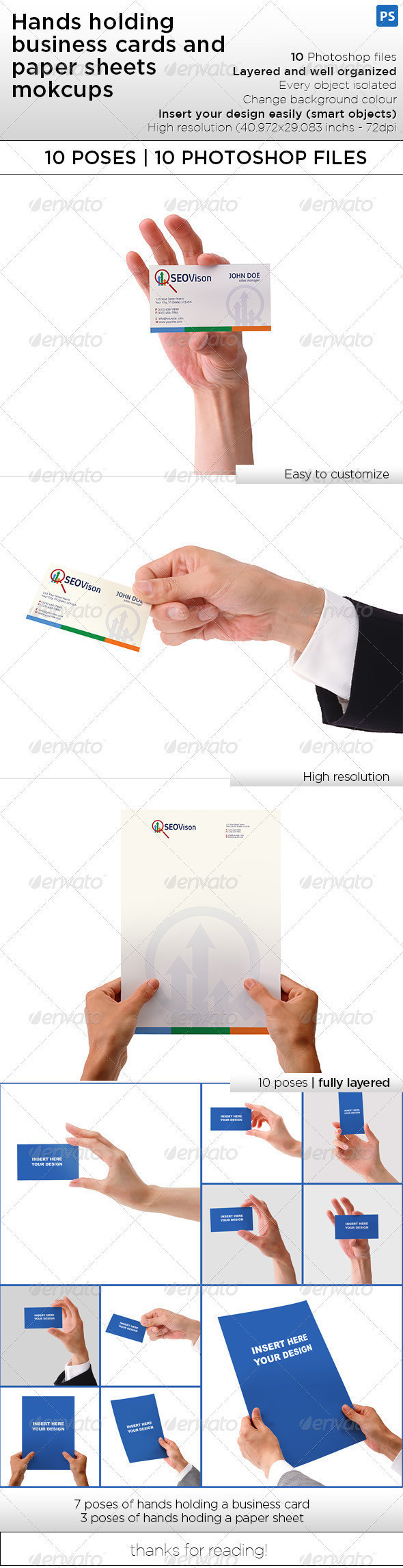 Hand holding business card and paper sheet mockups themestack hand holding business card and paper sheet mockups reheart Image collections