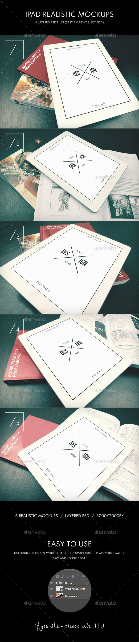 Ipad realistic mockups imagepreview
