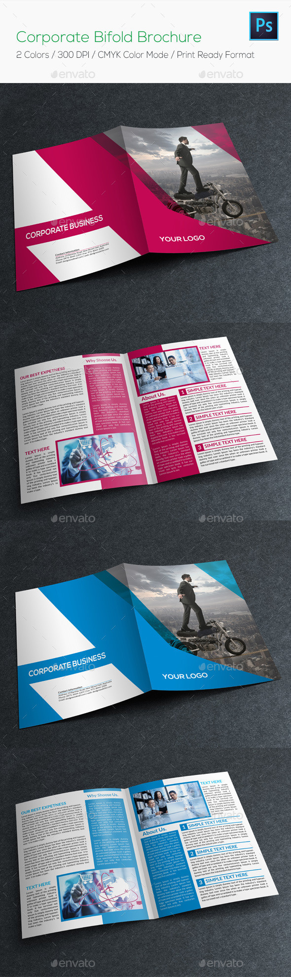 Corporate bifold brochure preview