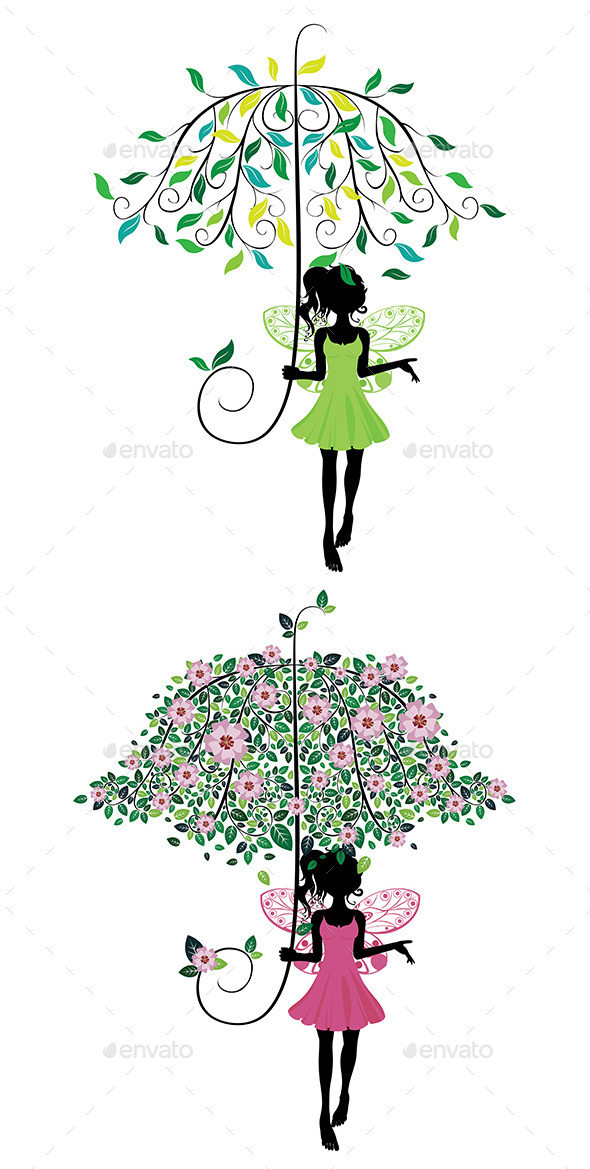Fairy 20with 20floral 20umbrella 20pw