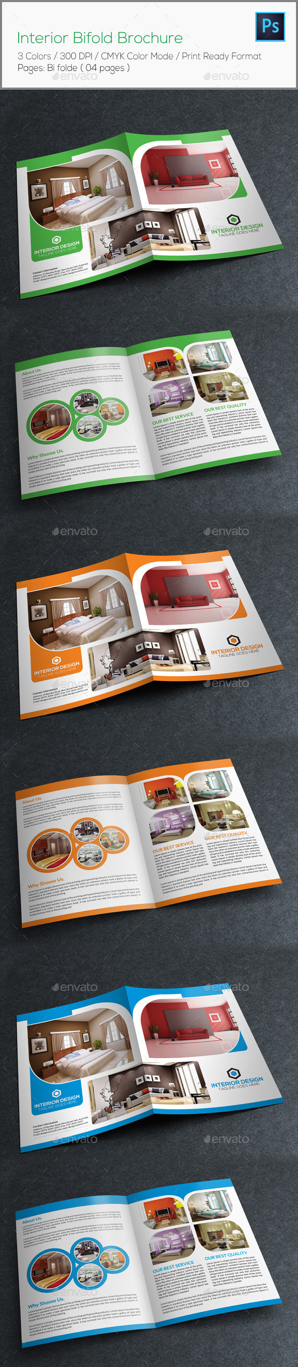 Interior bifold brochure preview