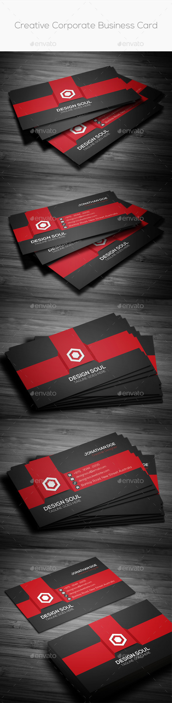 Creative corporate business card preview
