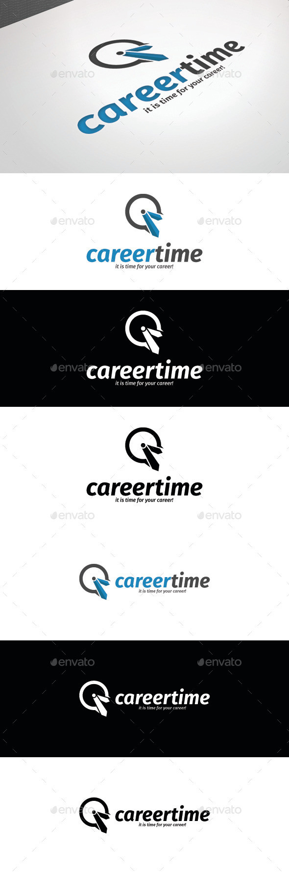 Career 20time 20logo 20template 20preview