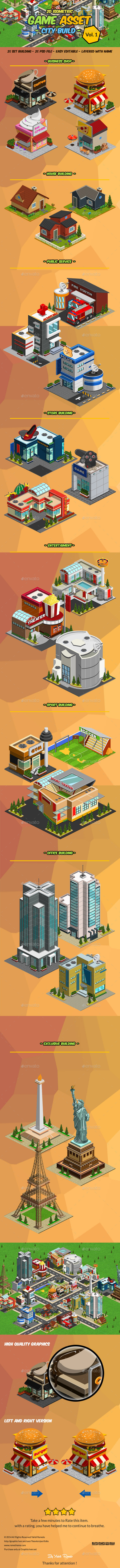 2D Isometric Game Asset - City Build Vol 1 | Themestack net