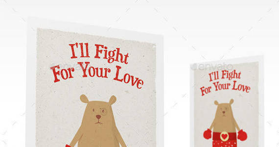 Box valentines day greeting card mockup