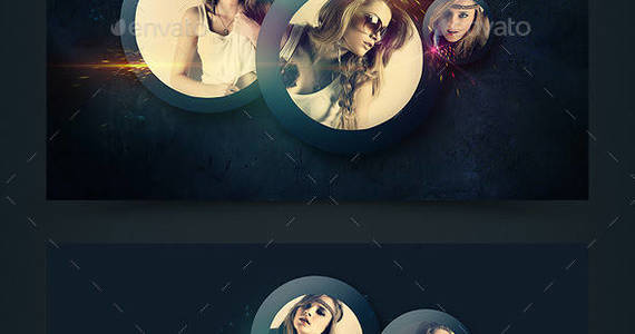 Box colorful art photo manipulation preview template