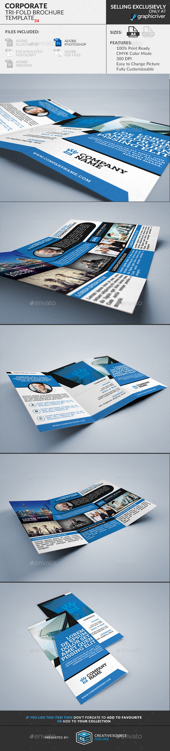 Corporate trifold brochure preview 34