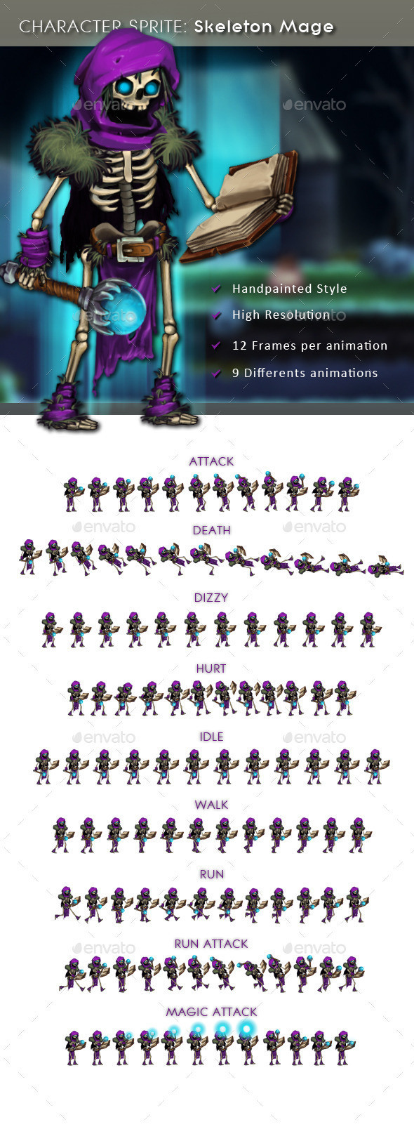 Character Sprite: Skeleton Mage | Themestack net