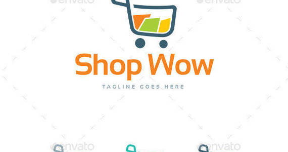 Box shop wow logo template