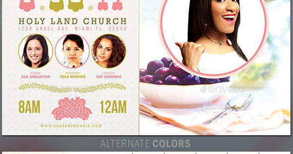 Box prayer breakfast church flyer template preview