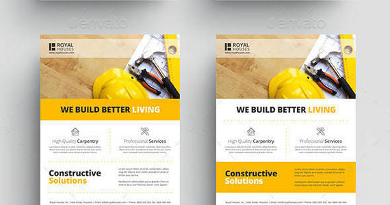 Box construction business flyer 2