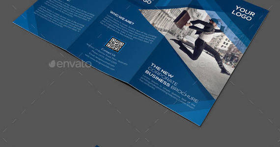 Box corporate trifold brochure preview