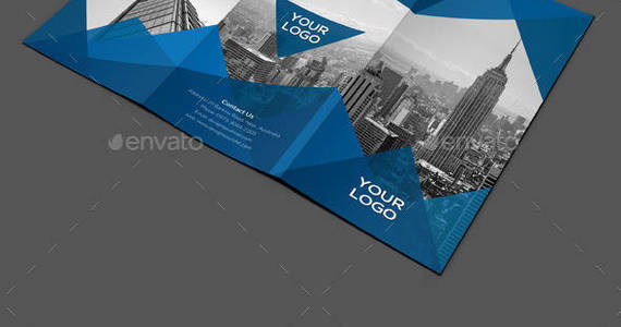 Box abstract architecture trifold brochure preview