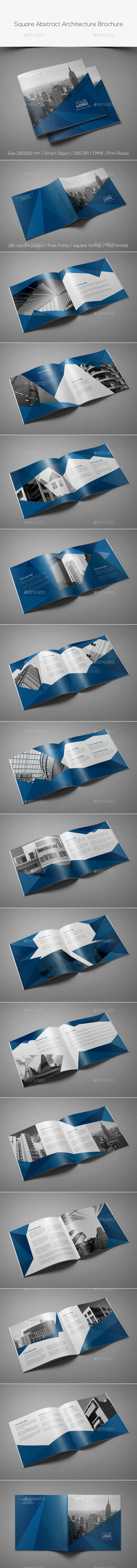 Square abstract architecture brochure preview