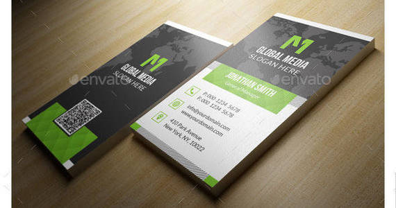 Box vertical creative corporate business card