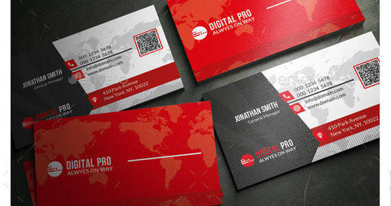 Box modern corporate business card