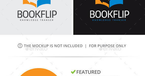Box book flip logo