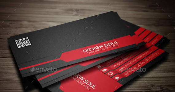 Box corporate business card preview