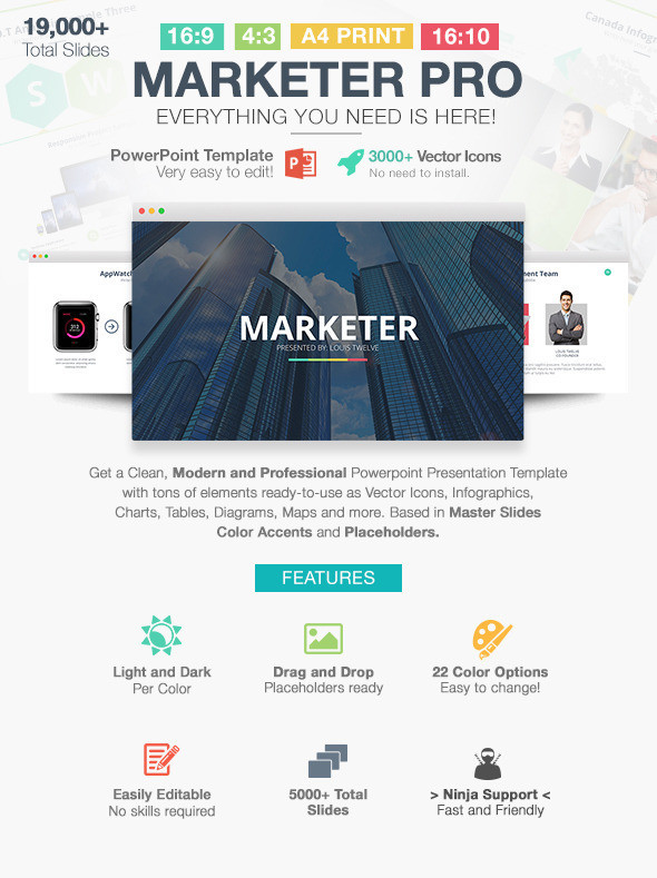 Marketer Pro Powerpoint Template Themestack Net