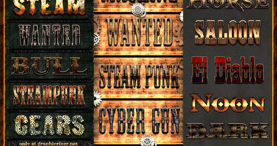 Box steampunk western texteffects bundle preview