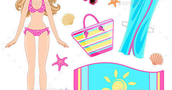 Box paper 20doll 20in 20beach 20clothes