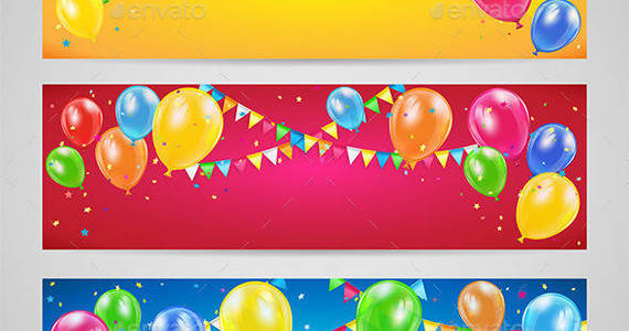 Box holiday 20banners 20with 20balloons 201