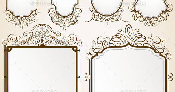 Box decorative 20frames 20vector